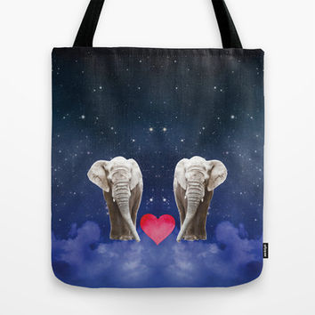 Elephant Love Tote Bag by NisseDesigns