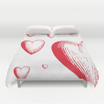 Lovely Hearts Duvet Cover by NisseDesigns