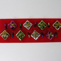 Colorfull Presents and multi-colored lights - a Christmas magnet