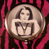Compact Mirror Lily Munster The Munsters Tattoo Creepy Unique Retro Vintage The Addams Family Elvira Vampira