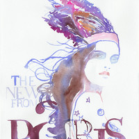 Watercolour Fashion Illustration  The News by silverridgestudio