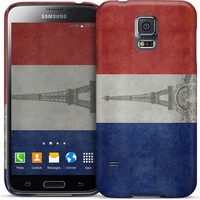 Vintage flag of France, with Eiffel tower insert Samsung by Bruce Stanfield | Nuvango