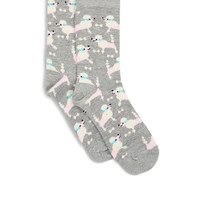 All Over Poodle Sock | Grey | Accessorize
