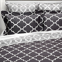 Z Gallerie - Mimosa Bedding Collection - Charcoal