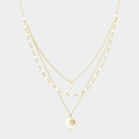 Triple Strand Gold Pearl Necklace | MoMA