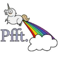 Unicorn Fart Rainbow Cross Stitch Pattern | Los Angeles Needlework