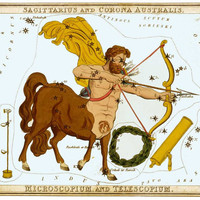 Sagittarius Sagitarius Zodiac Sign Astrology Art Astronomy Constellation 8 1/2 x 11 Glossy Print