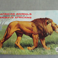Vintage Brooke Bond Red Rose Tea Card Album African Animals No. 7 Complete