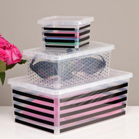 Stripe Dot Plastic Storage Collection - See Jane Work