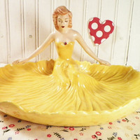 Vintage 1950s Lady Chip N Dip Bowl