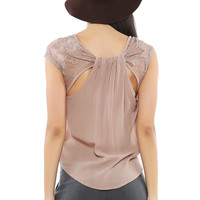 Back Bow Lacy Top