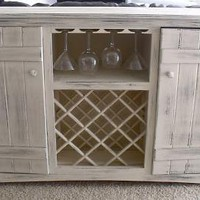 Farmhouse Wine Buffet | DIY Project built from Free Furniture Plans by Ana White