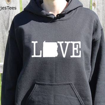 Love Pennsylvania Hoodie, Pennsylvania Sweatshirt, State, Home,