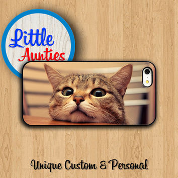 Lazy BROWN KITTEN CASE iPhone 6 iPhone 5S iPhone 5 Lovely Cat iPhone 4 Small Animal Pussycat Samsung Galaxy S5 S4 S3 Personalized Unique
