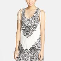 Volcom 'Polar Gypsy' Fringe Tank Dress (Juniors)