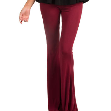 Comfy Bell Bottoms - Wine - Wine /