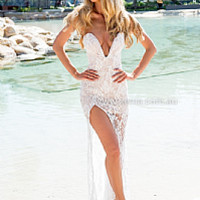 JASMINE LACE MAXI DRESS , DRESSES, TOPS, BOTTOMS, JACKETS & JUMPERS, ACCESSORIES, $10 SPRING SALE, PRE ORDER, NEW ARRIVALS, PLAYSUIT, GIFT VOUCHER, **SALE NOTHING OVER $30**,,MAXIS,White Australia, Queensland, Brisbane