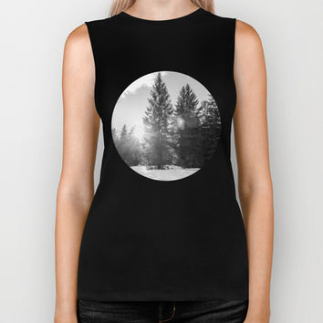 Winter Forest Biker Tank by Pati Designs | Society6