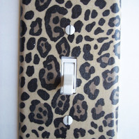 Cheetah Animal Print Single Toggle Switchplate switch plate