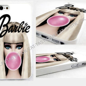 barbie, bubble gum,iPhone 4,4s, 5C, 5S,5,6,6 plus cover Case, GALAXY S2,S3,S4 S5