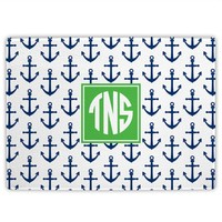 Monogrammed Nautical Anchors Cutting Board