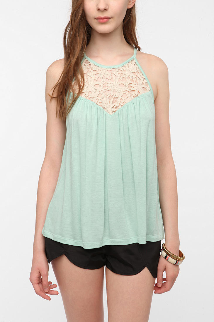 Kimchi Blue Battenberg Lace Inset Tank