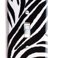 Zebra Single Toggle Switchplate Cover switch plate