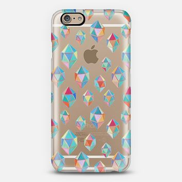 Floating Gems - a pattern of painted polygonal shapes iPhone 6 case by Micklyn Le Feuvre | Casetify