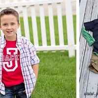 Personalized Boy Athletic Name tee's! 3 Colors!!