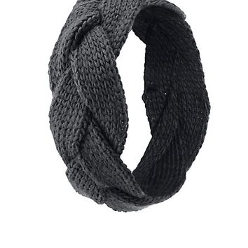 Braided Sweater Knit Head Wrap by Charlotte Russe