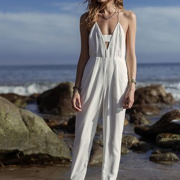 Finders Keepers Womens Midnight Jumpsuit - White