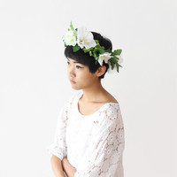 Full White Flower Crown