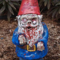 "Zombie Garden Gnome, ""Walking Dead"" Cast Concrete (expect 3 or 4 WEEKS Before delivery)"