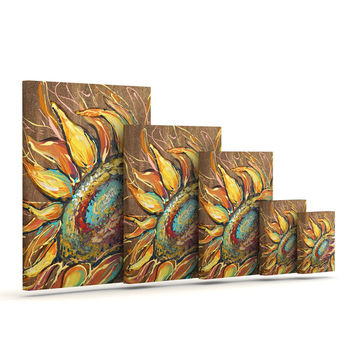 "Brienne Jepkema ""Sunflower"" Yellow Flower Outdoor Canvas Wall Art"