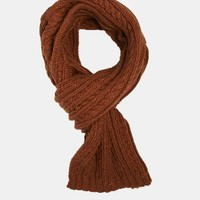 ASOS | ASOS Cable Scarf in Nep Yarn at ASOS