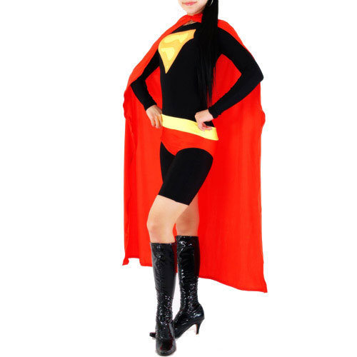 Black and Red Lycra Spandex Back Zipper Superhero Zentai Catsuit [TWL111222013] - 31.39 : Zentai, Sexy Lingerie, Zentai Suit, Chemise