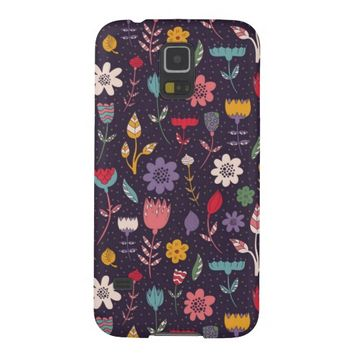 Modern Abstract Spring Flower Pattern Samsung Galaxy S5 Case