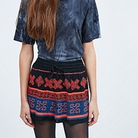 Staring at Stars Embroidered Shorts in Red - Urban Outfitters