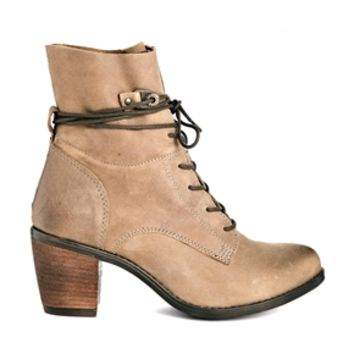Steve Madden Gretchen Brown Leather Heeled Ankle Boots
