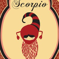 Scorpio Zodiac Astrological Sign Poster / Print Art &quot;SCORPIO&quot; 8x10 Zodiac Sign / Animal Print