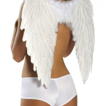White Feather Wings @ Amiclubwear costume Online Store,sexy costume,women's costume,christmas costumes,adult christmas costumes,santa claus costumes,fancy dress costumes,halloween costumes,halloween costume ideas,pirate costume,dance costume,costumes for