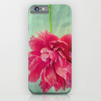 Peony on Blue iPhone & iPod Case by ALLY COXON | Society6