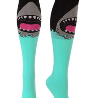 Killer Shark Bite Knee Socks