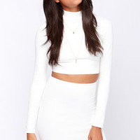 Spell Chic Ivory Pencil Skirt