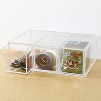 Acrylic Case 3 Drawer Unit