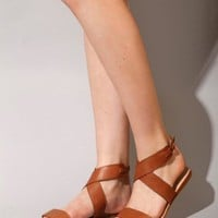 Brown leather sandals [Jon8302] - $114 : Pixie Market, Fashion-Super-Market
