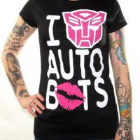 Transformers, Girls T-Shirt, I Love Autobots