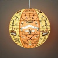 Amazon.com: &quot;Bees and Keys&quot; Decorative Hanging Paper Lantern with Light Kit (up to 40 watt bulb) - 13.75&quot; Diameter - With 15&#x27; Cord - Recycled Paper: Everything Else