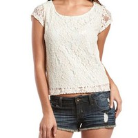 Pop Color Lace Tee: Charlotte Russe