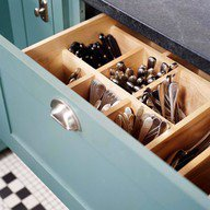 vertical flatware storage